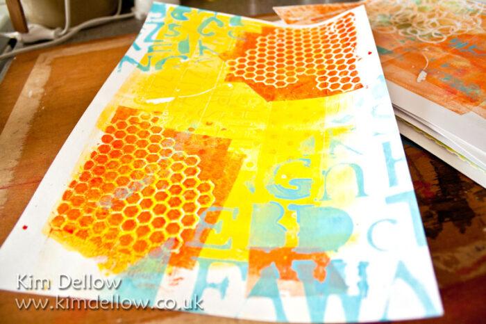 More Monoprinting With DIY Printing Plates