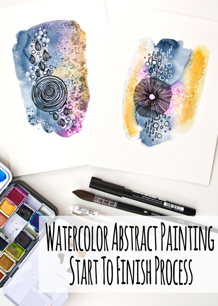 Watercolor Abstract Painting - Start To Finish Process Video by Kim Dellow
