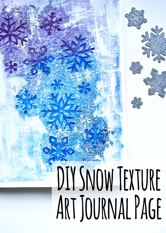 How To Make A Winter Texture Art Journal Page with a video by Kim Dellow