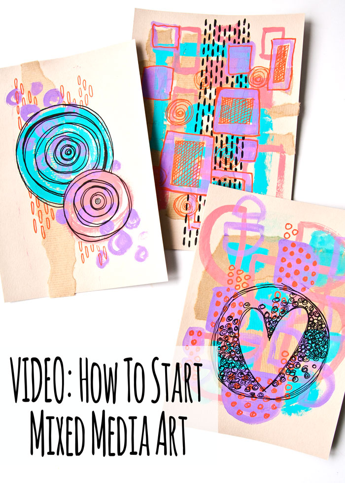 VIDEO: How to Start Mixed Media Art - A Creative Exercise Technique