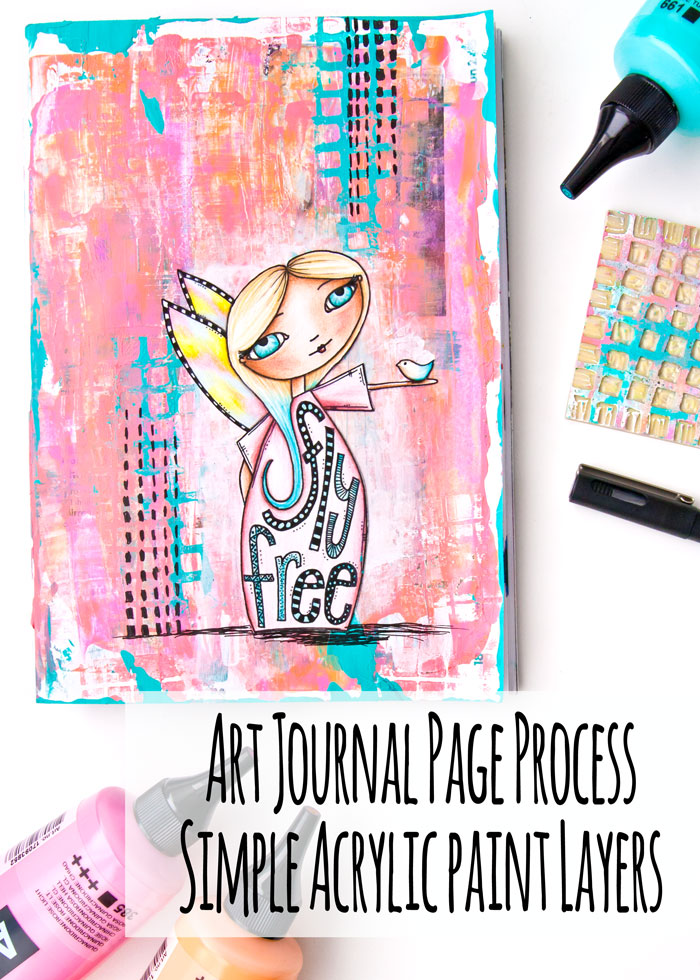 VIDEO: Art Journal Page Process - Simple Acrylic Paint Layers