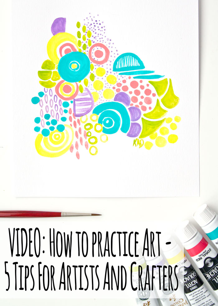 Painted pattern. Video with tips on how to practice art