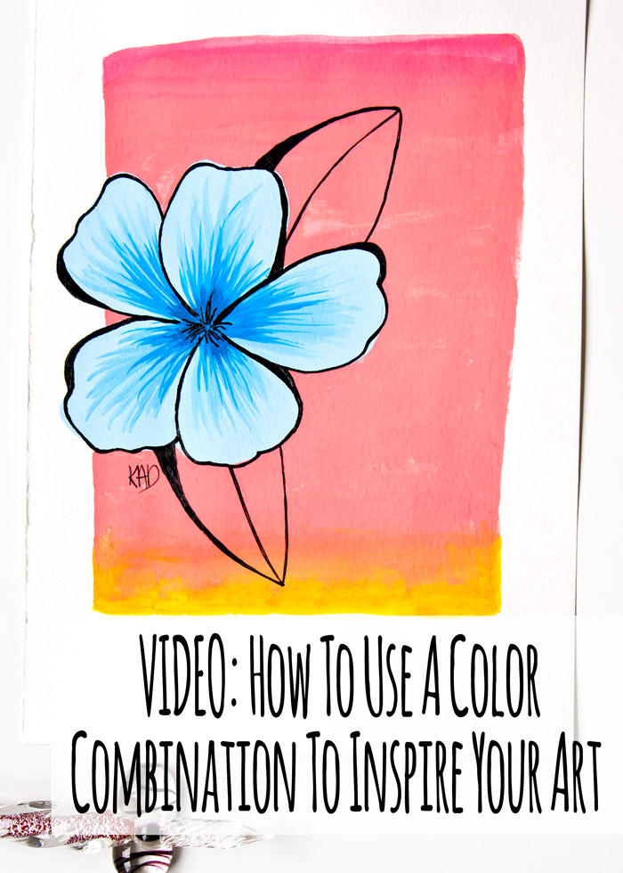 VIDEO: How To Use A Color Combination To Inspire Your Art