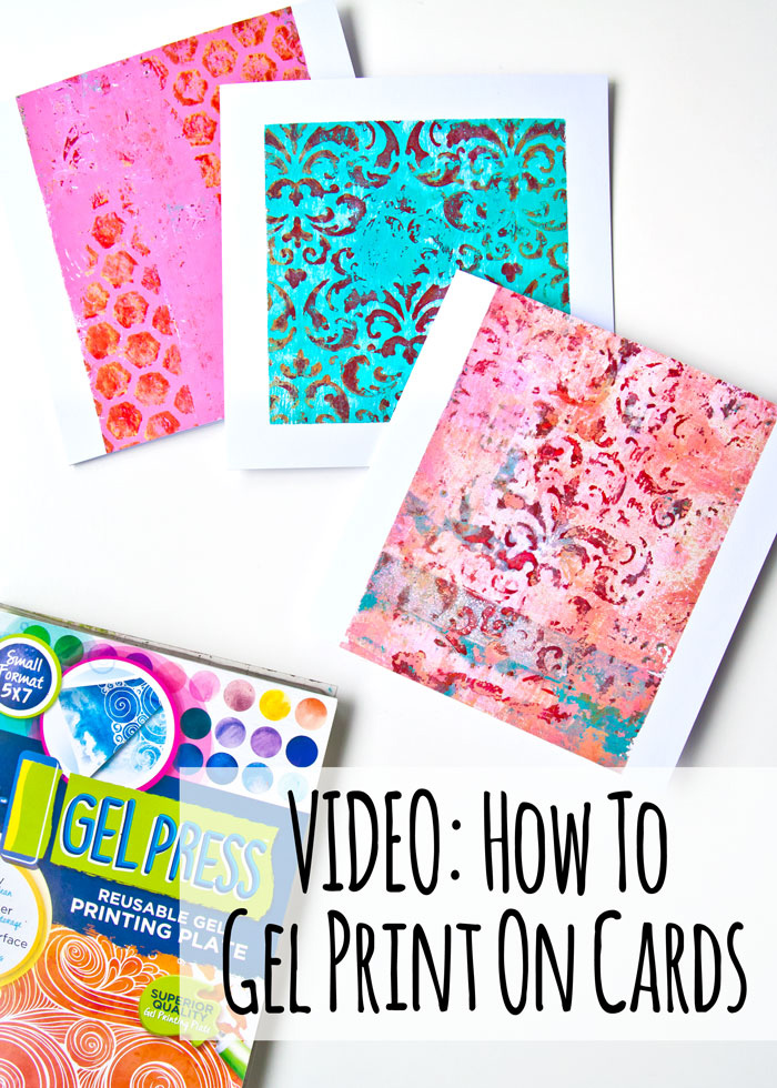 How to gel print on card blanks Blog title