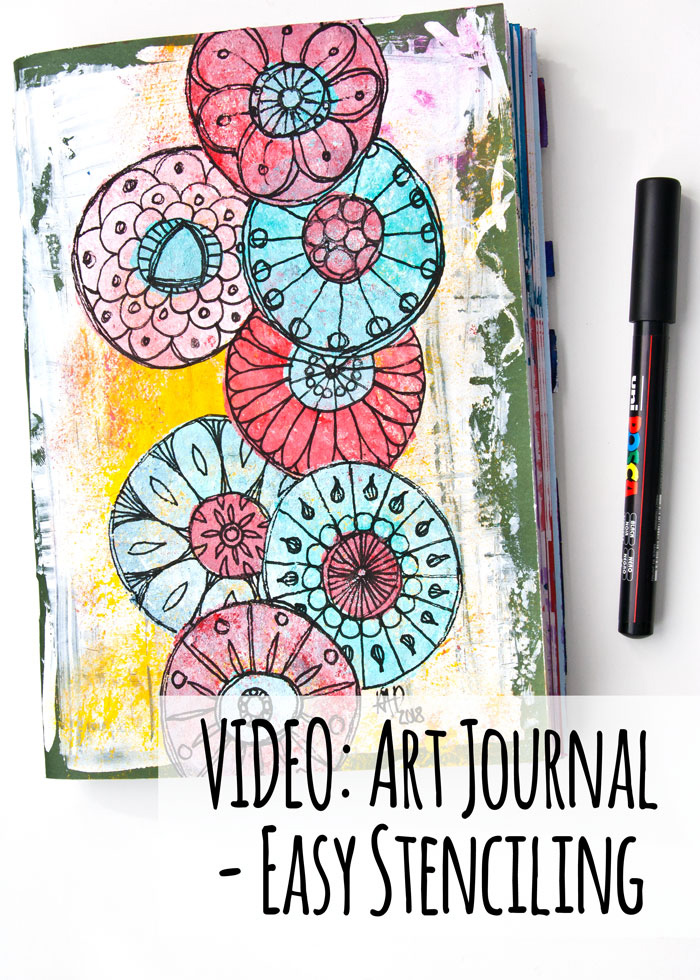 VIDEO: Art Journal - Easy Stenciling With A Kitchen Sponge