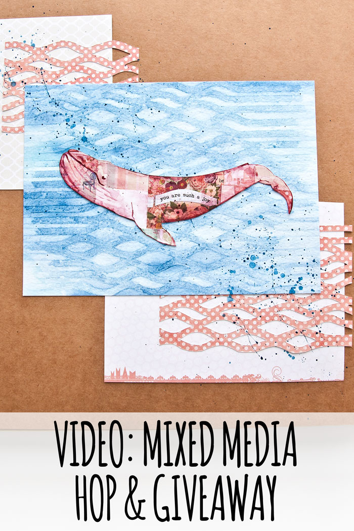 VIDEO: Mixed Media Video Hop And Giveaway August 2018 - Sea