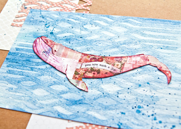 close-up of the collage whale