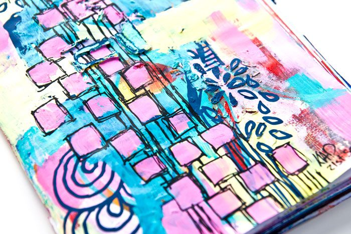 VIDEO: When Doodles Go Wrong Art Journal Page!