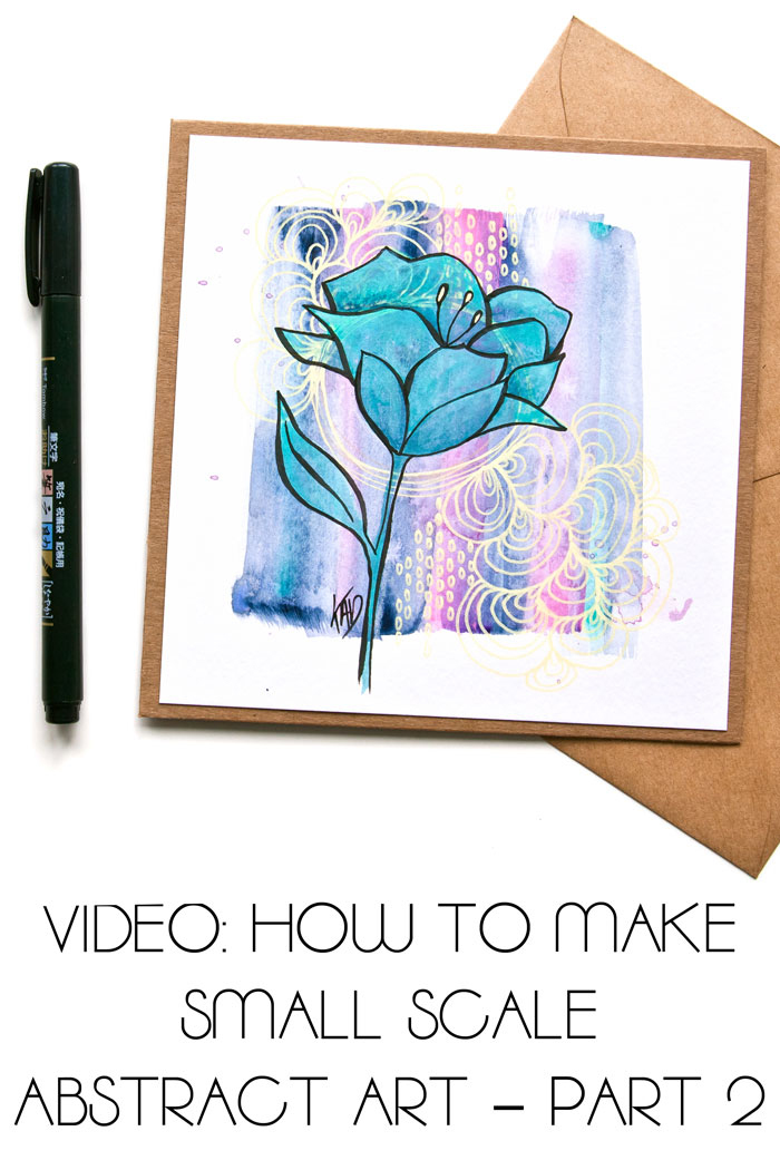 Watch Kim Dellow paint a flower using teal acrylic paint