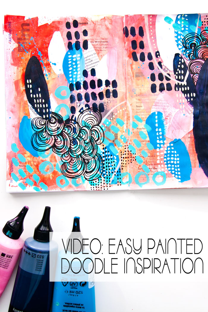 A page of painted doodle inspiration by Kim Dellow
