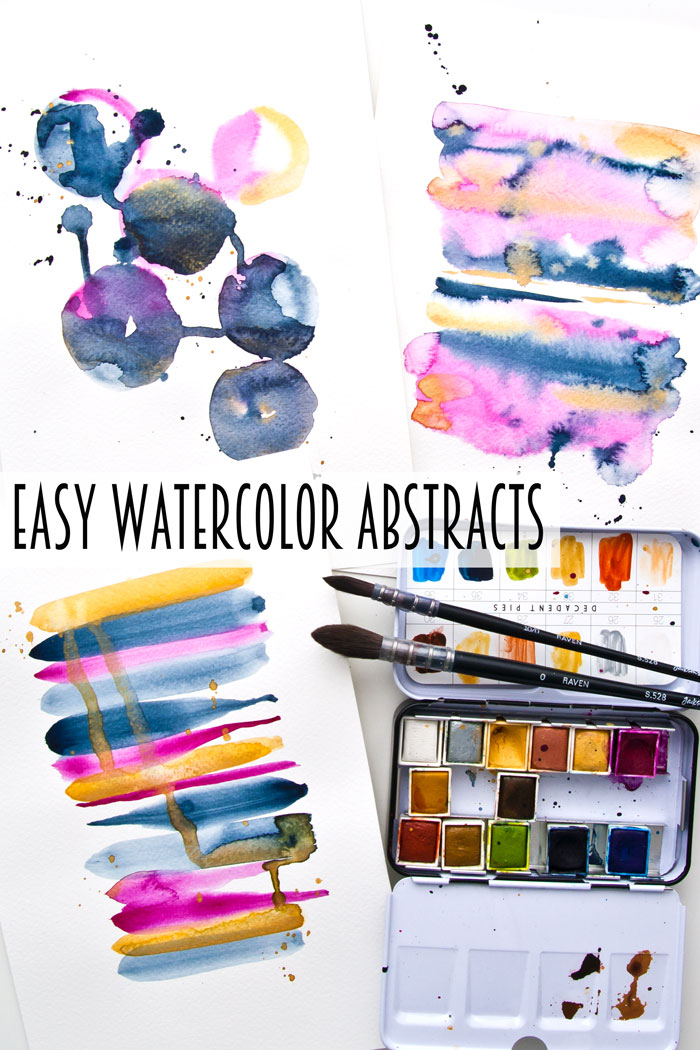 Three watercolor abstracts by Kim Dellow