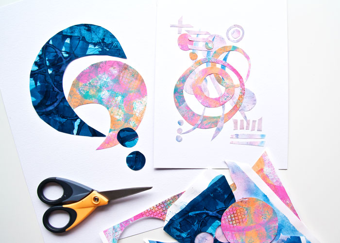 making paper doodles with Kim Dellow