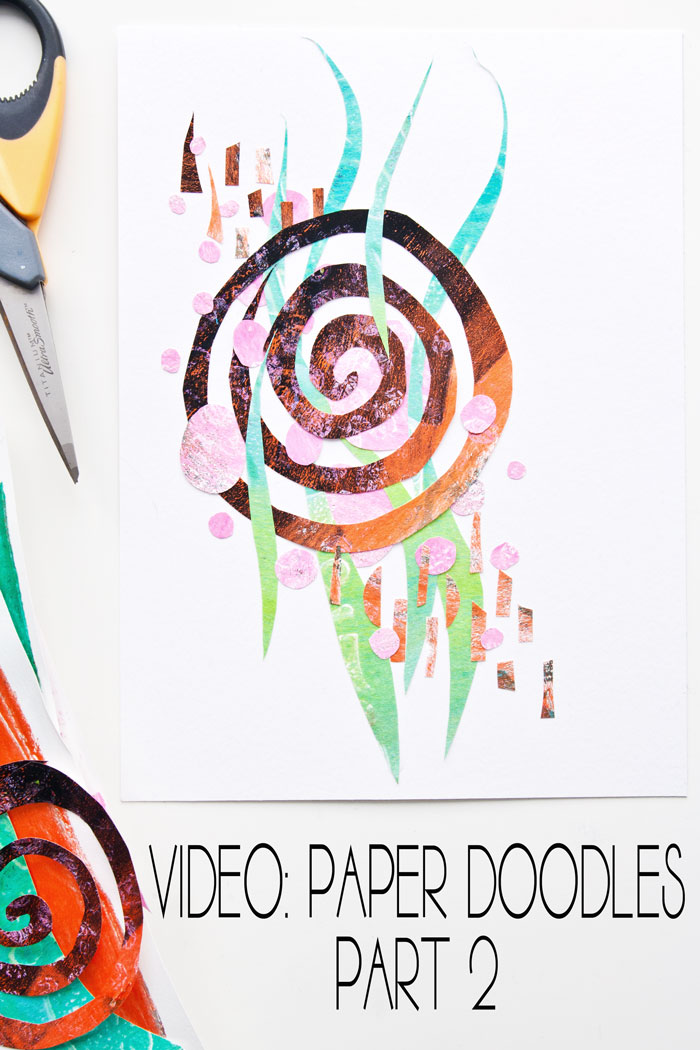 Paper doodle design by Kim dellow