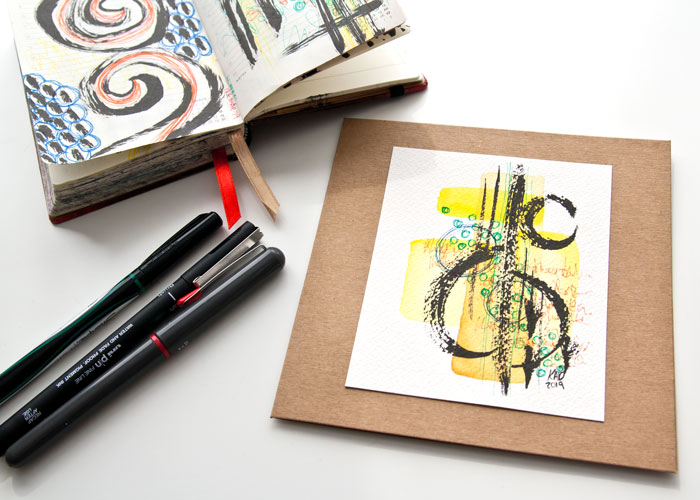 VIDEO: Watercolor And Ink Doodle artwork – Trying New Products