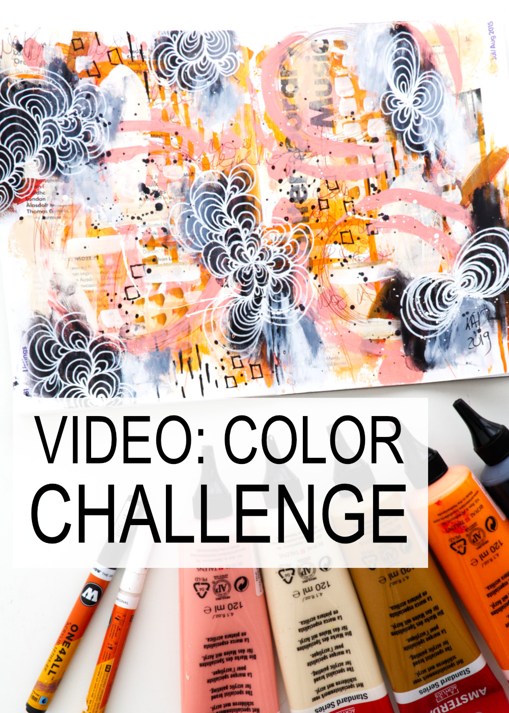 VIDEO: Mixed Media Acrylic Painting And An Art Challenge