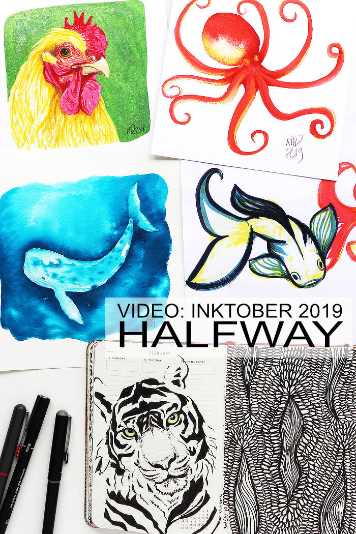 Some Inktober 2019 projects from Kim Dellow