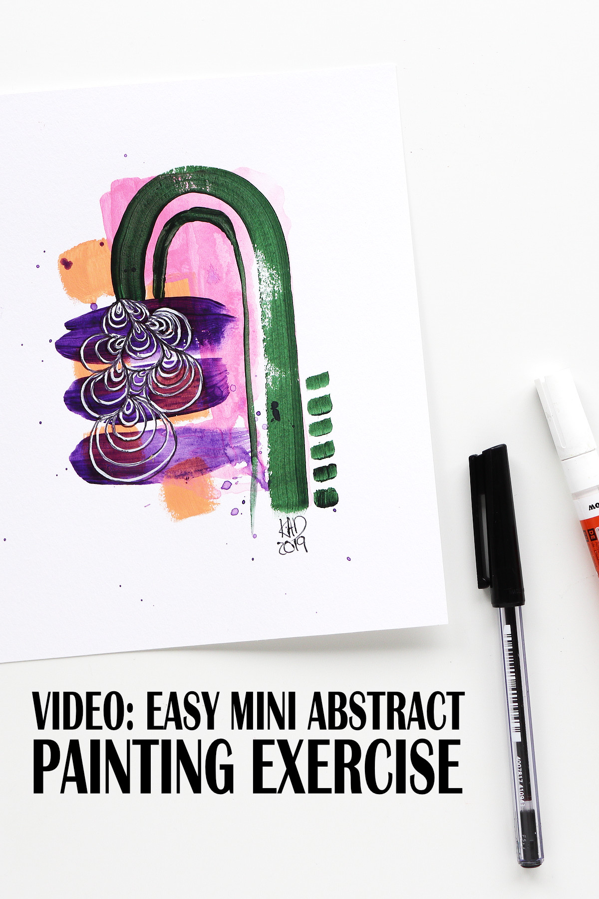 Easy mini abstract exercise video by Kim Dellow