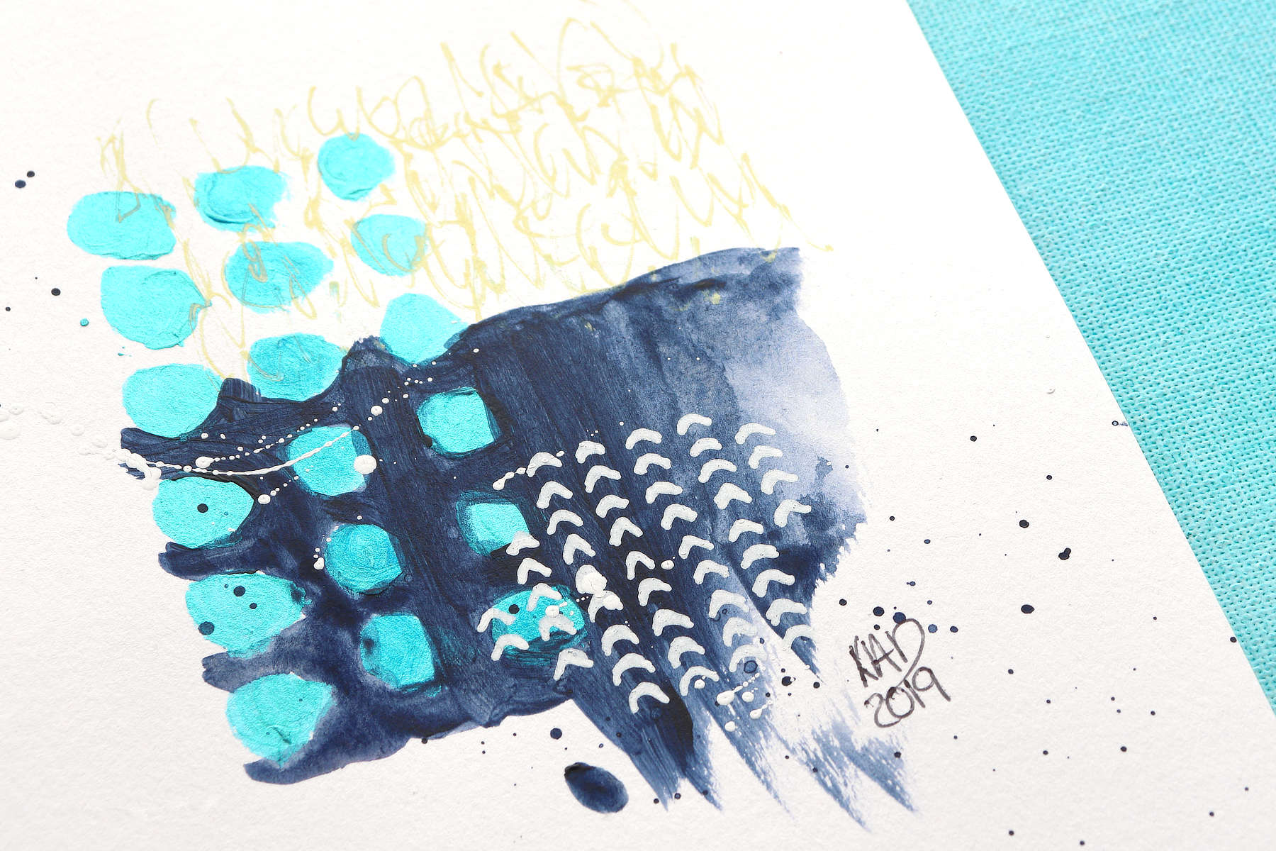VIDEO: Easy Mini Abstract Art And A Color Challenge!