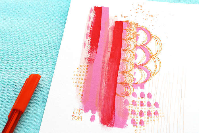 VIDEO: How Do You Use Your Colour? – Easy Mini Abstract And Chat