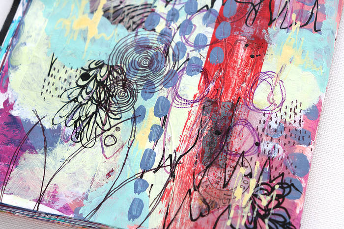VIDEO: Easy New Year Mixed Media Art – HAPPY NEW YEAR!