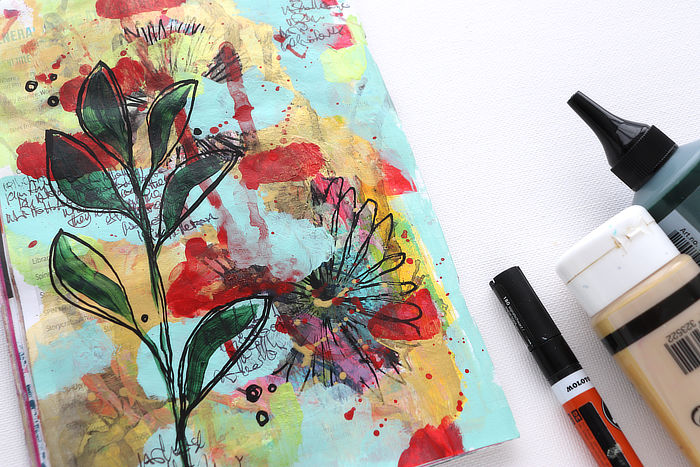 VIDEO: Relaxed And Easy Festive Mixed Media Art Page