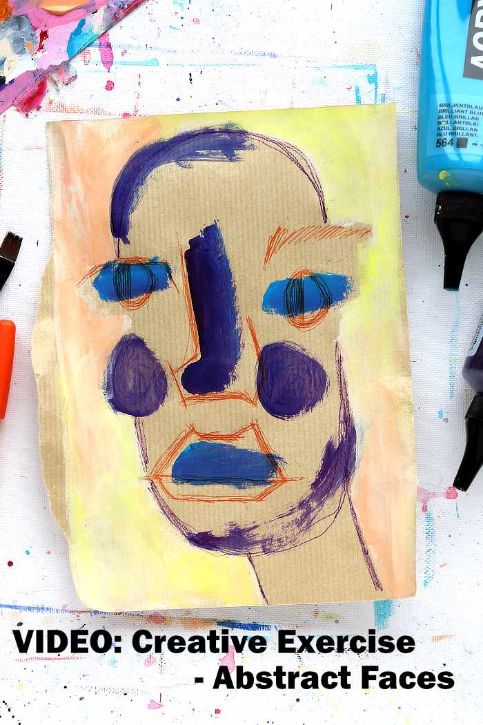 an abstract faces exercise with Kim Dellow