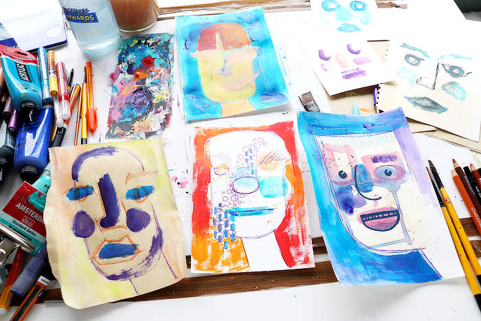 Abstract an abstract faces exercise ideas with Kim Dellow