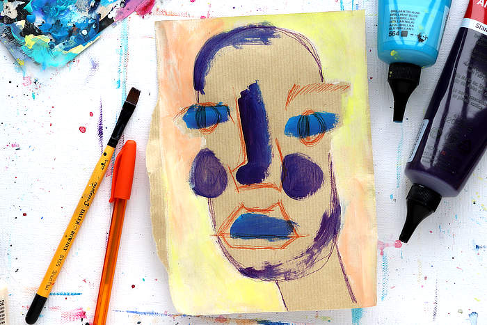 VIDEO: Easy Creative Exercise – Abstract Faces