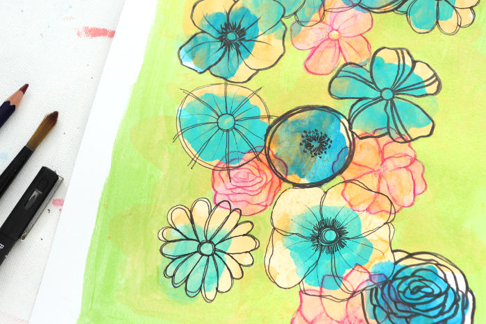 VIDEO: Can I Use Up All My Leftover Paint? – Stretch Your Products Art Challenge!