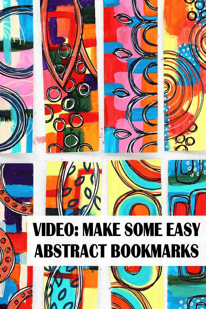 Lots of colourful abstract bookmarks