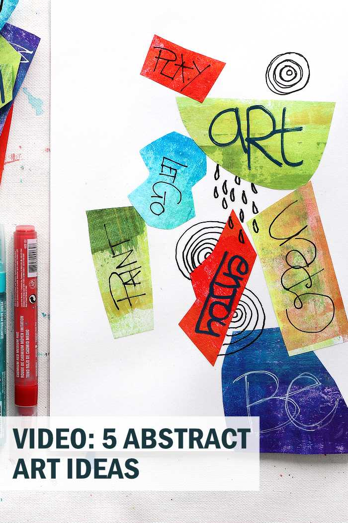 Abstract word art and 4 other abstract ideas from Kim Dellow to try