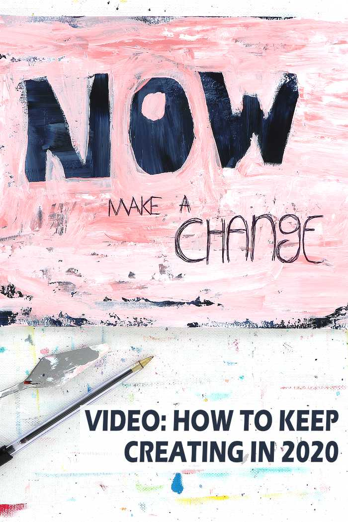 Painted wording exercise to help with creative blocks by Kim Dellow
