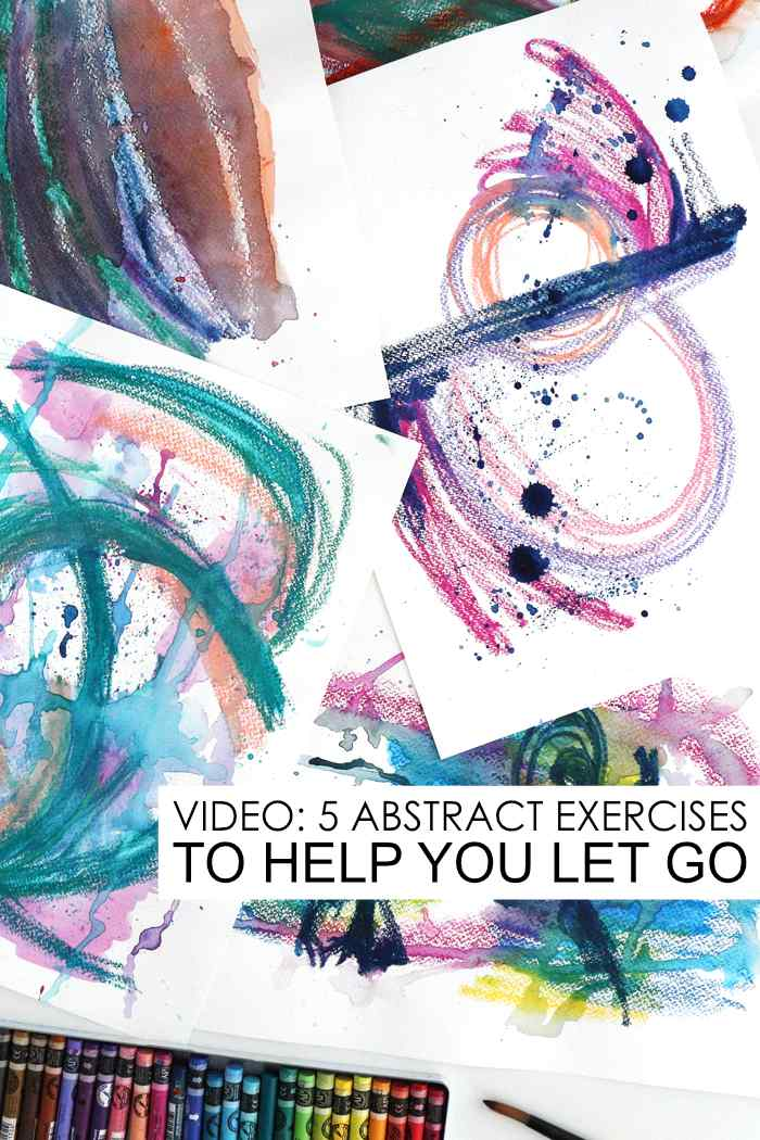 Abstract scribble exercises by Kim Dellow