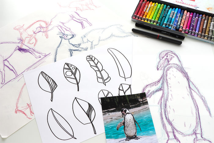 Different drawing exercises from Kim Dellow to get you drawing
