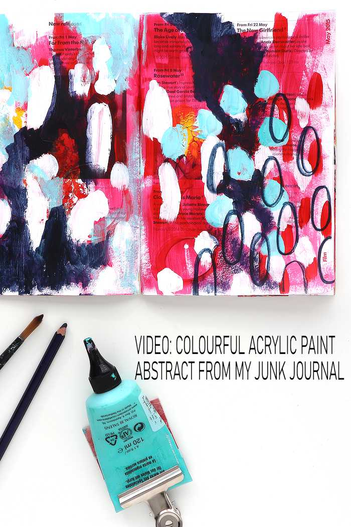 Jewel colourful acrylic paint abstract from Kim Dellow