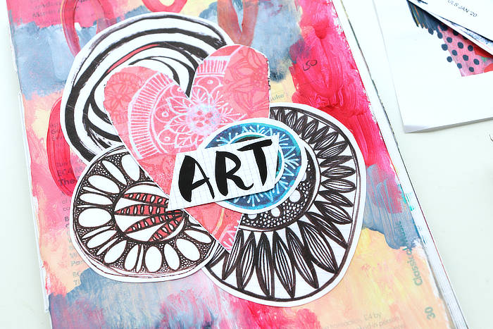 Read more about the article Ideas For Your Art Journal: Collage Clusters ***VIDEO***