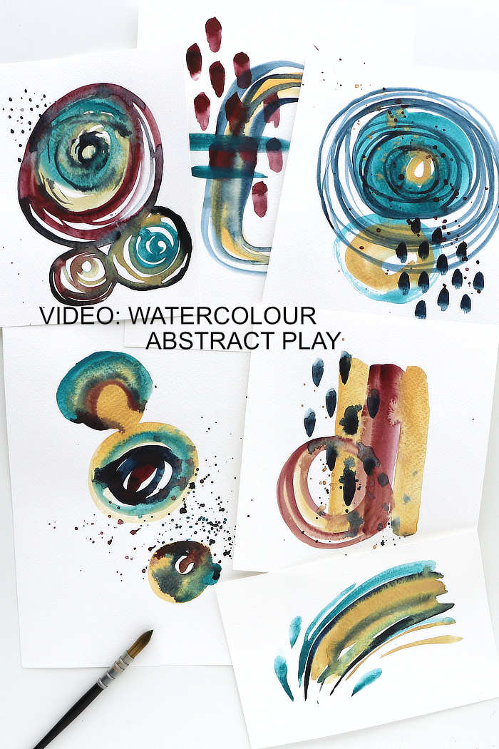 Watercolour abstracts by Kim Dellow