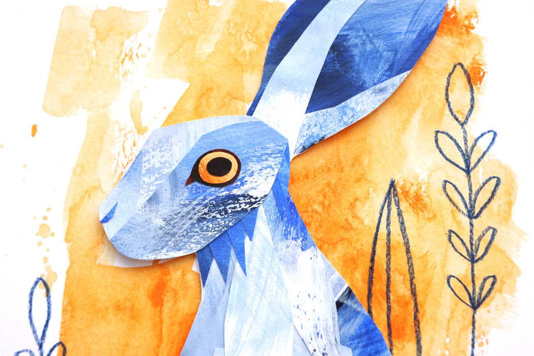 Monochromatic Kaleidoscope 2021 Taster week hare by Kim Dellow