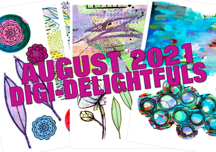 Digi-Delightfuls download from Kim Dellow's Patreon art club this month