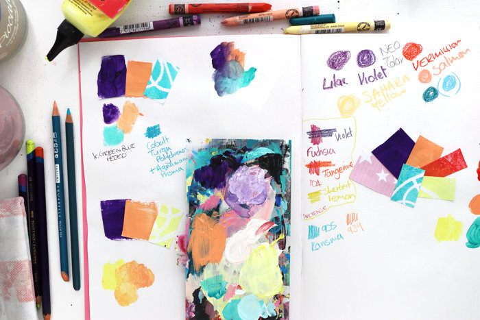 Working With Colour – Studio Thoughts – 26th July 2021