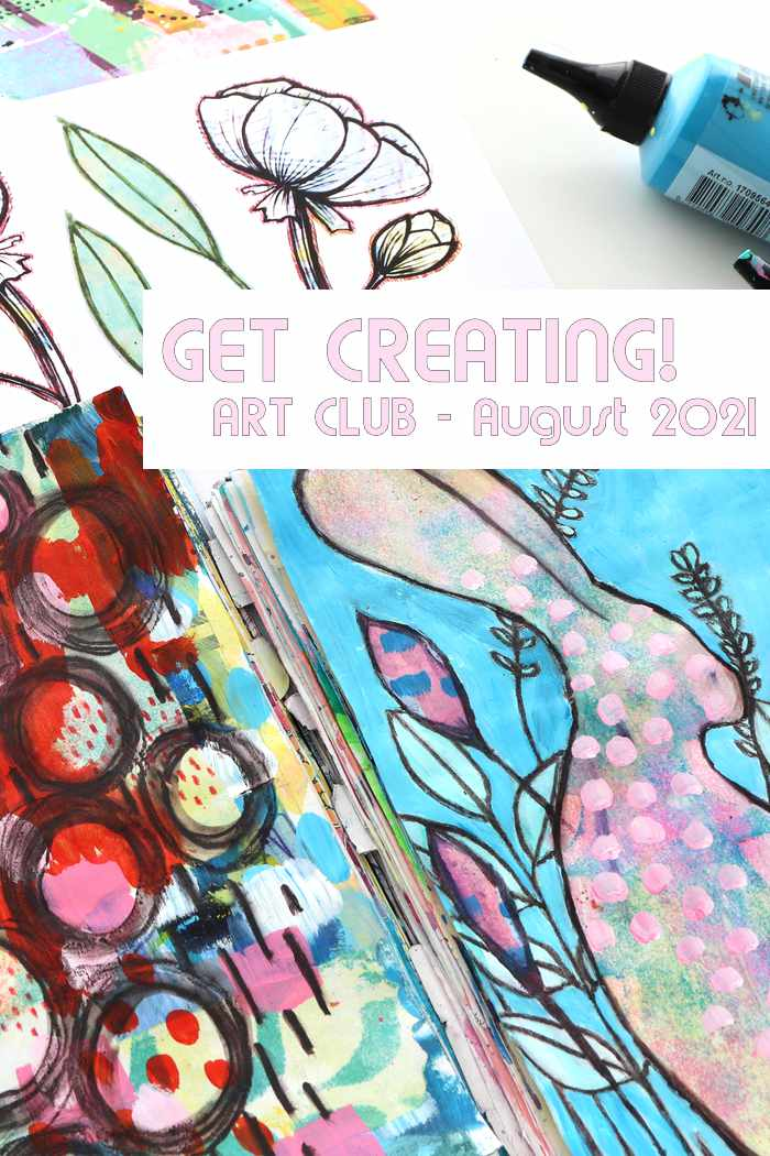 Peek at what is in Kim Dellow's Patreon art club this month