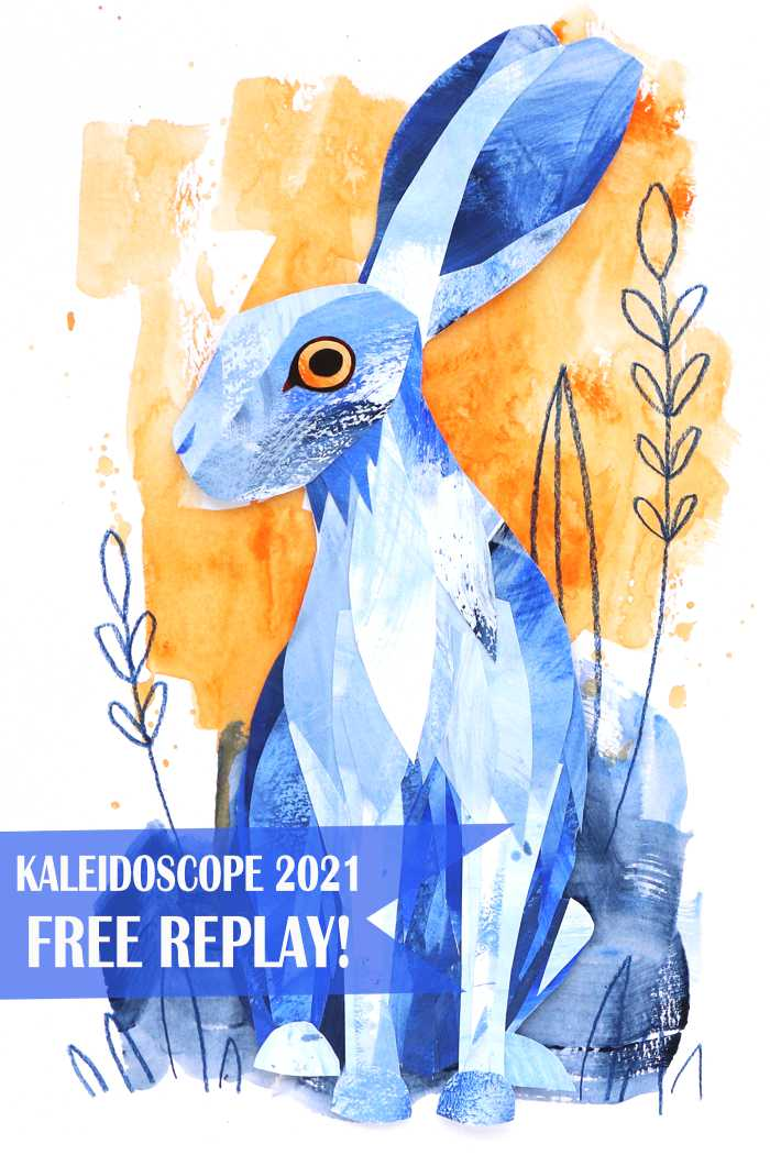 FREE Kaleidoscope 2021 Taster Is BACK! Do Kim Dellow's collage hare workshop