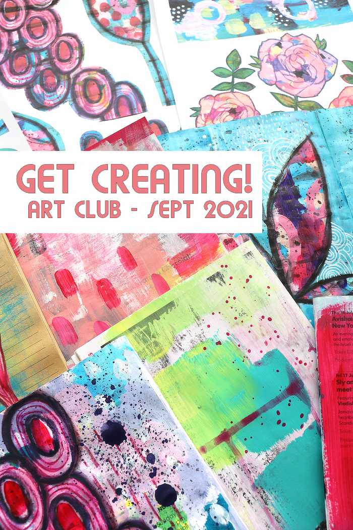 Get Creating in Kim Dellow's September 2021 art club