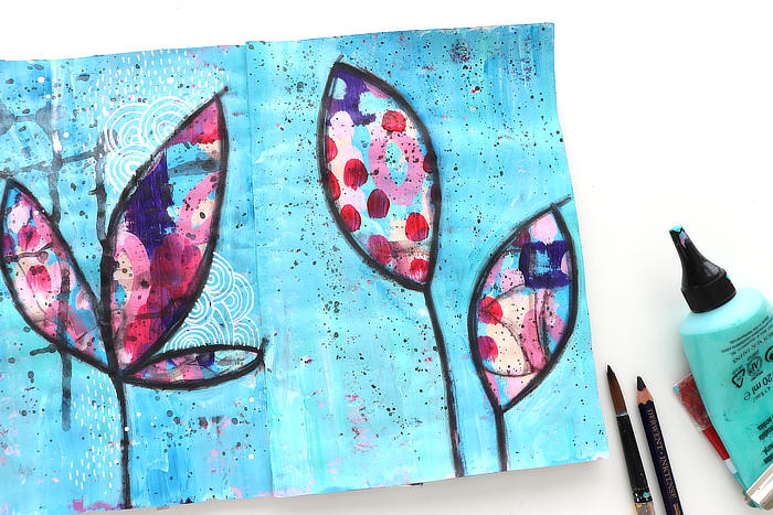 Use layers to make lots of texture with Kim Dellow in September 2021 Art club